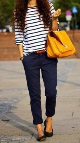 How to Wear Navy Pants