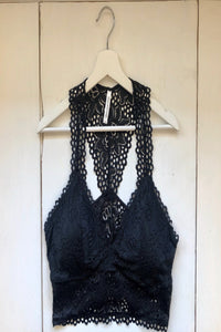 Black Lace Bralette - Extended Size