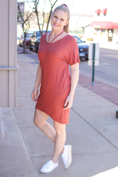 Jersey Tunic Tie Dress