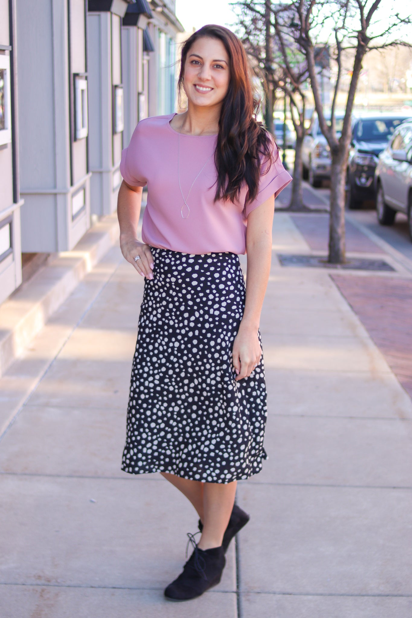 Mermaid Print Midi Skirt