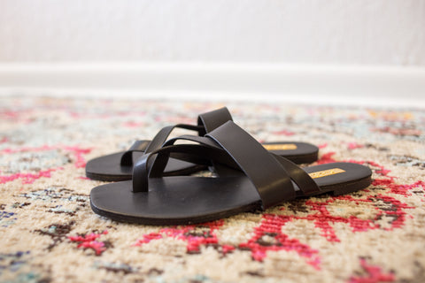 Black Criss Cross Sandal