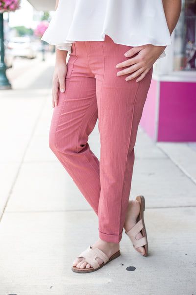 Clay Drawstring Ankle Pants