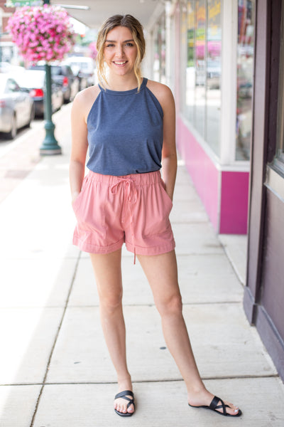 4 Pocket Shorts Pink