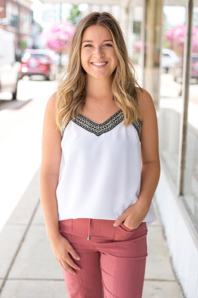 White Cami Tank Top