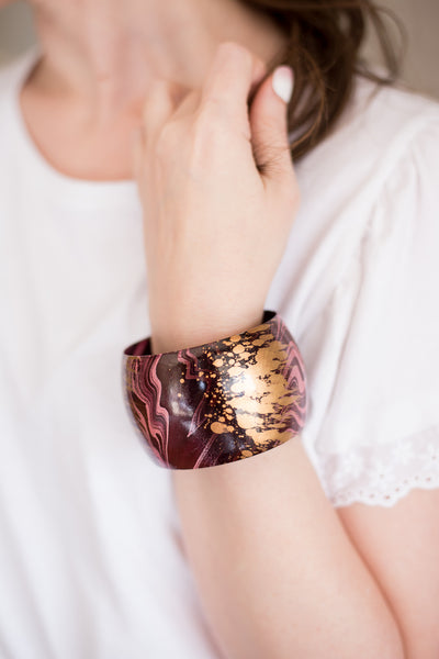 Watercolor Cuff