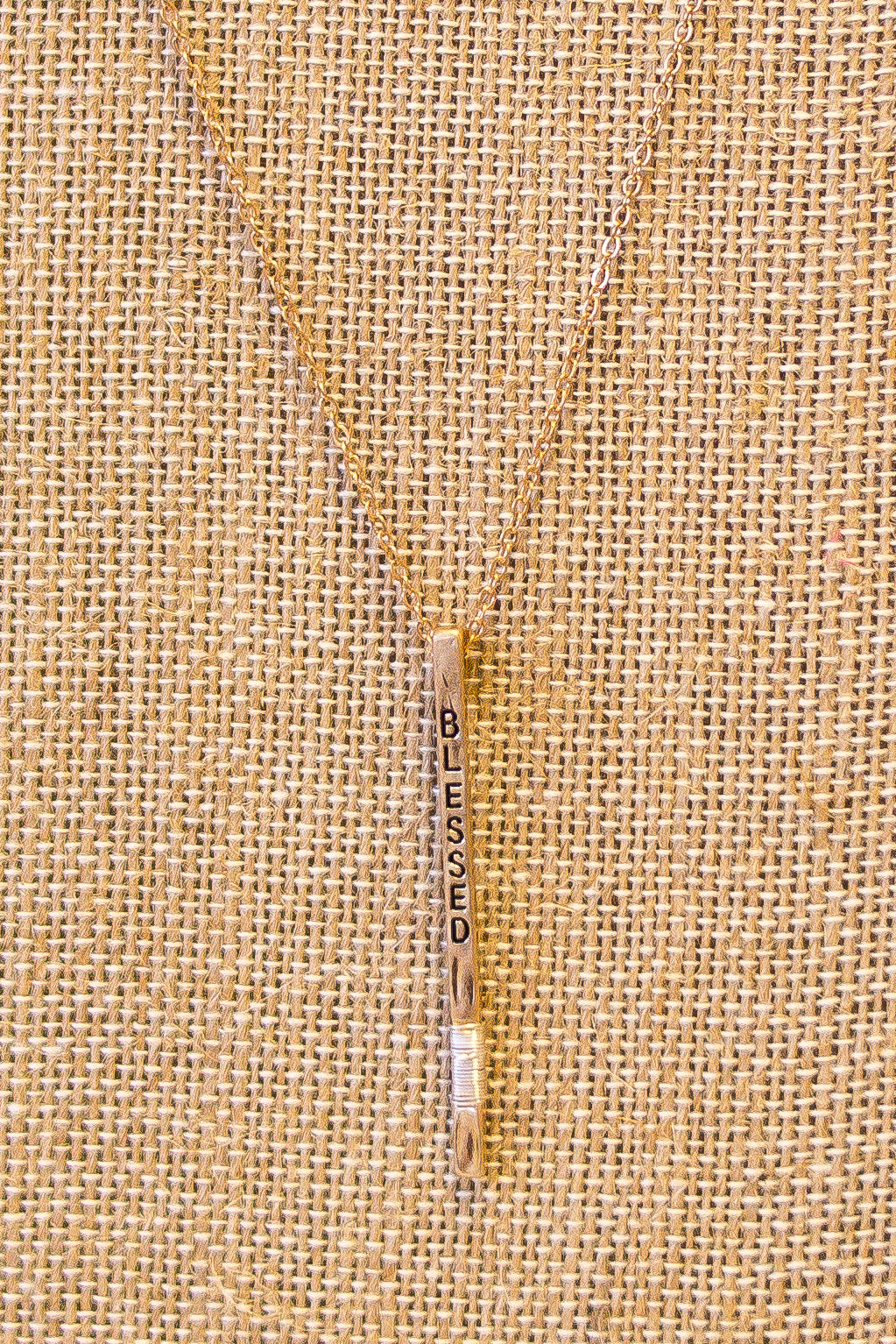 Blessed Line Necklace Gold