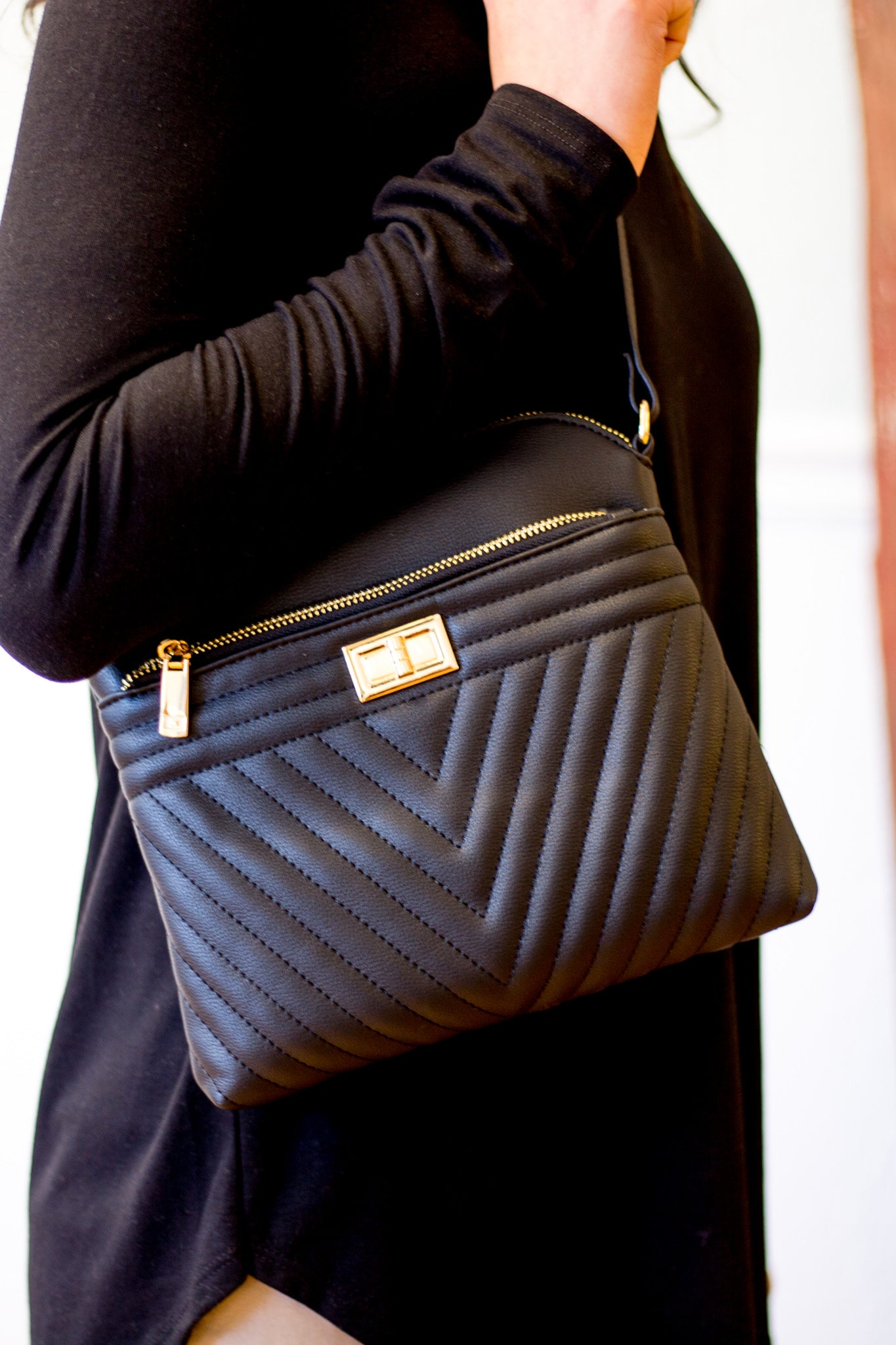 Take on the Day Crossbody in Black