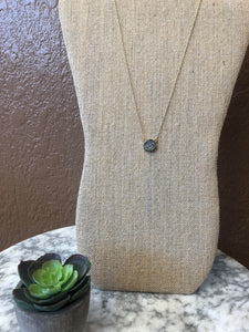 Druzy Necklace Silver