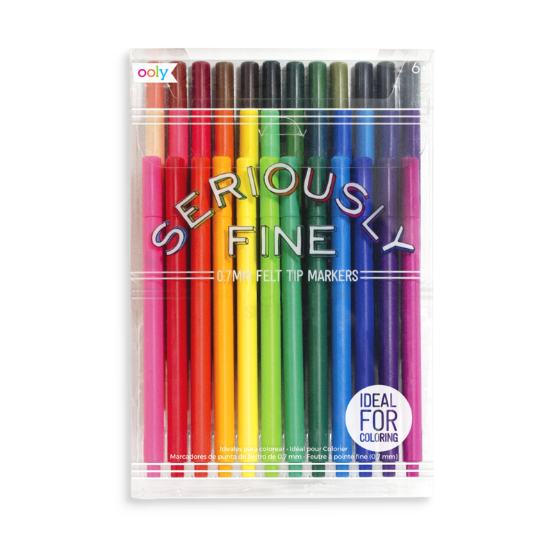 Seriously Fine Felt Tip Markers - Set of 36