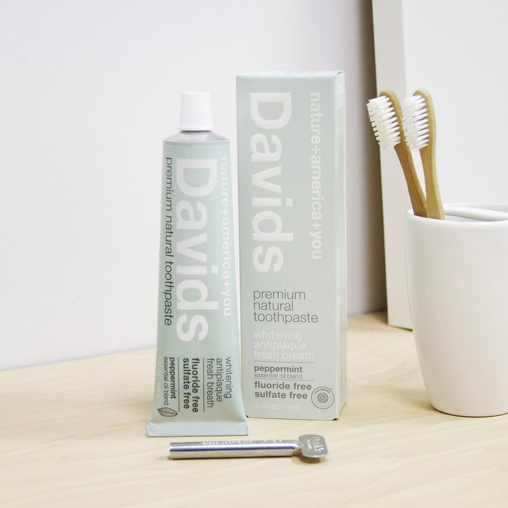 Davids Premium Natural Peppermint Toothpaste