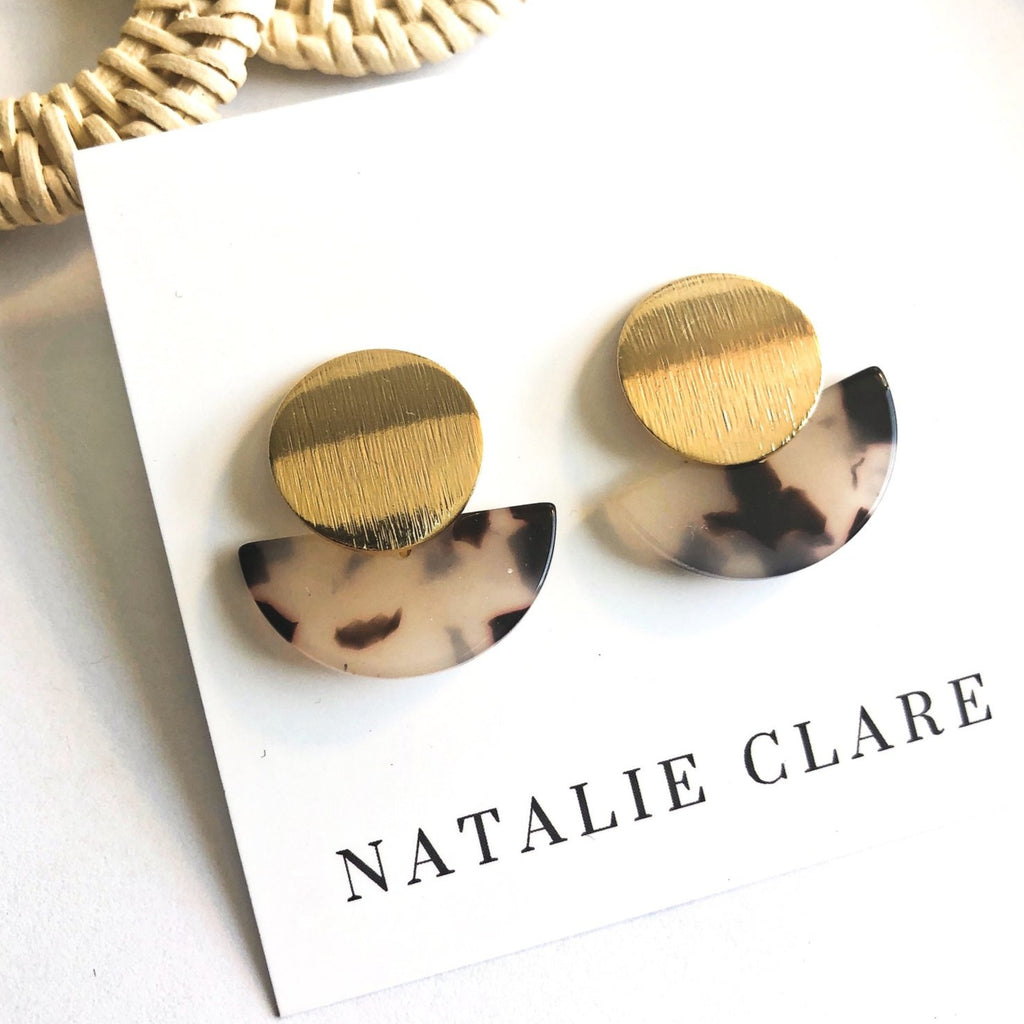 Natalie Clare - Marbled Mar Earrings