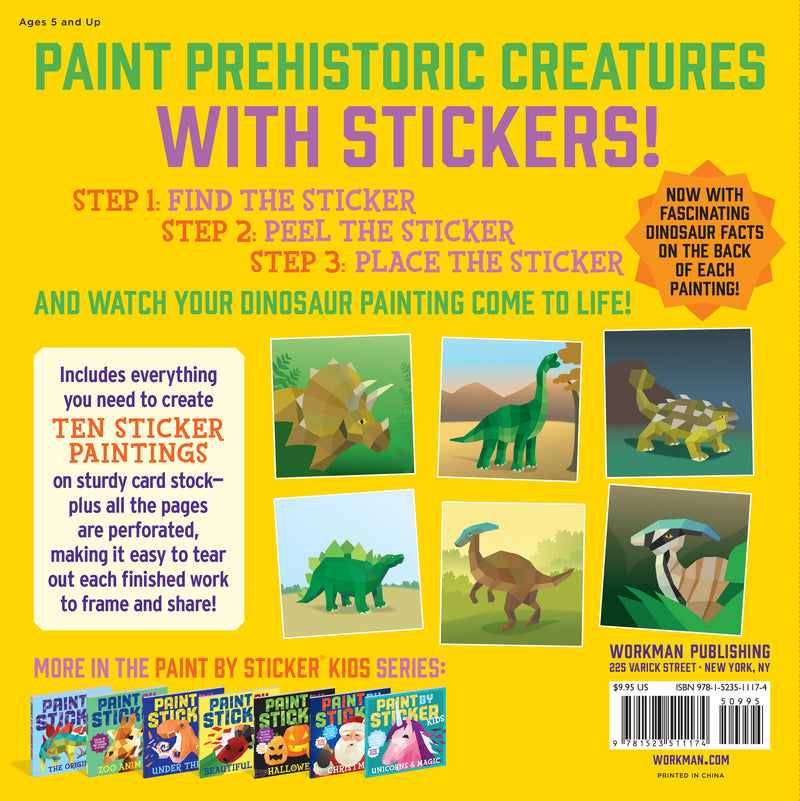 Paint by Stickers -  Dinosaurs