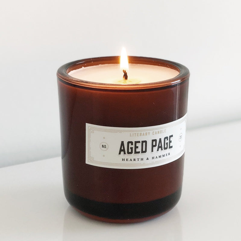 Aged Page Literary Soy Candle