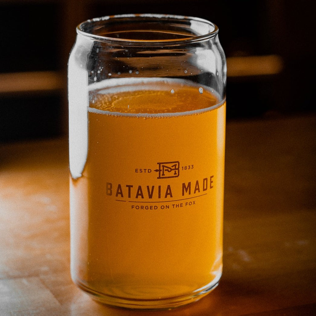 Batavia Made Beer Can Glass