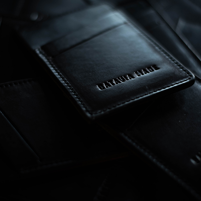 Three Pocket Leather Card Wallet | Batavia Made