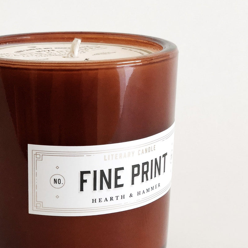Fine Print Literary Soy Candle
