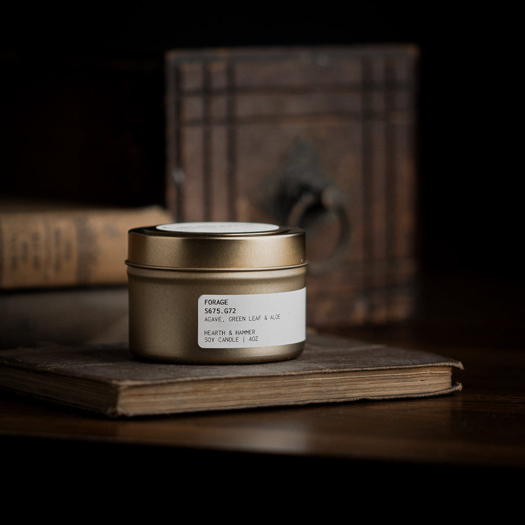 Forage Catalogue Candle Tin