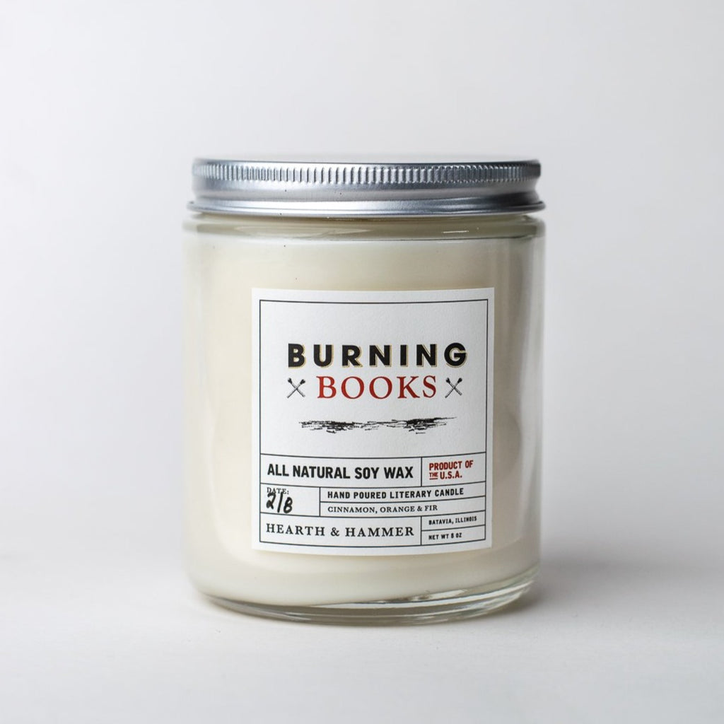 Burning Books Literary Soy Candle