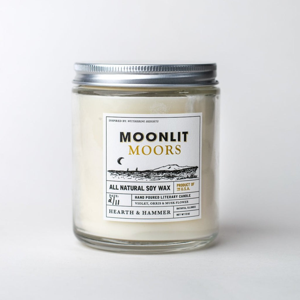Moonlit Moors Literary Soy Candle