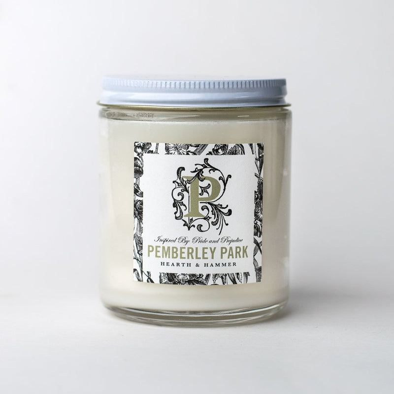 Pemberley Park Literary Soy Candle