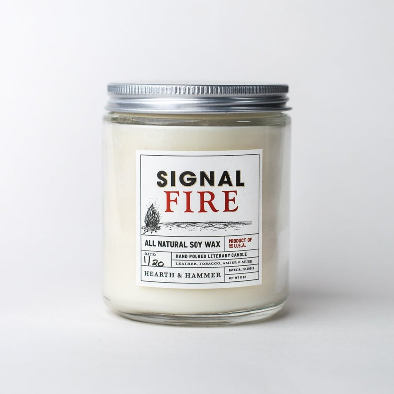 Signal Fire Literary Soy Candle