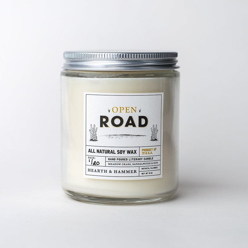 Open Road Literary Soy Candle