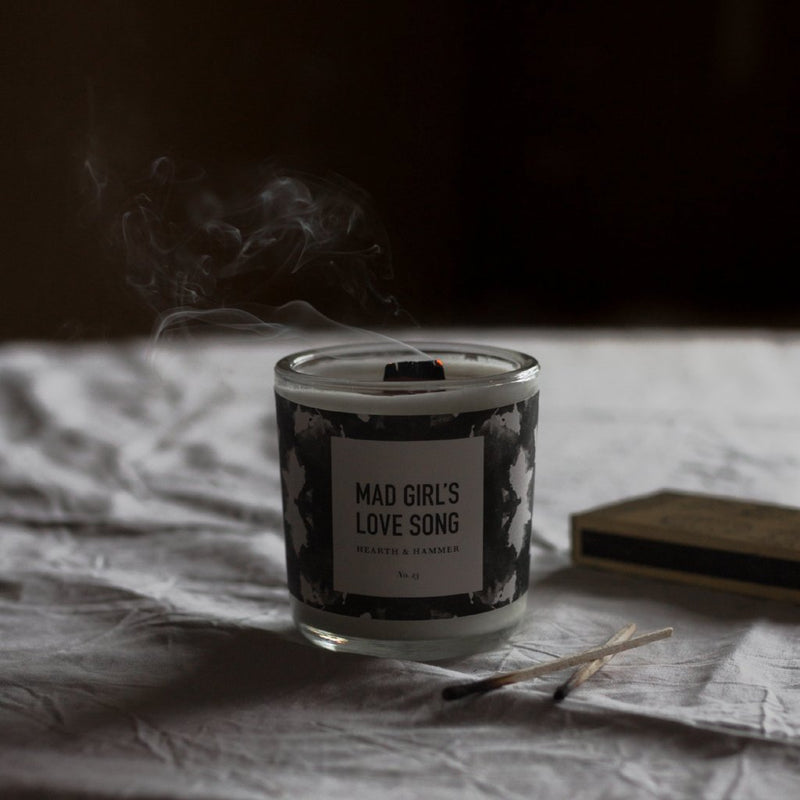 Mad Girl's Love Song Literary Candle