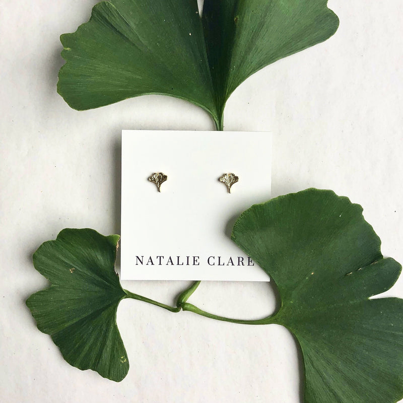 Natalie Clare - Ginkgo Earrings