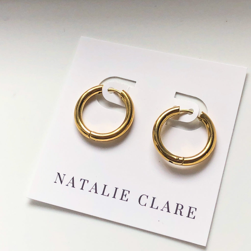 Natalie Clare - Medium Huggie Hoops