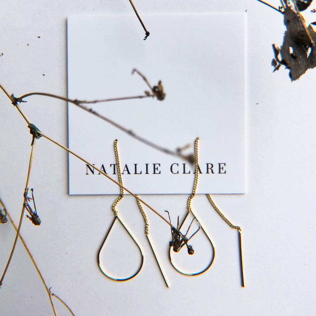 Natalie Clare - Teardrop Threaders