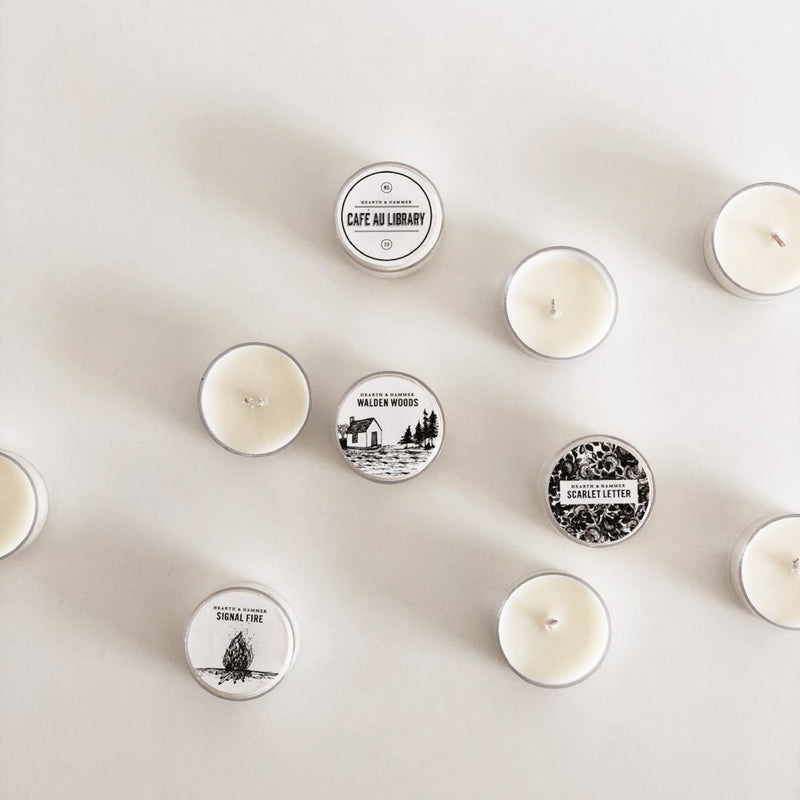 Mini Library Literary Soy Candle Pack