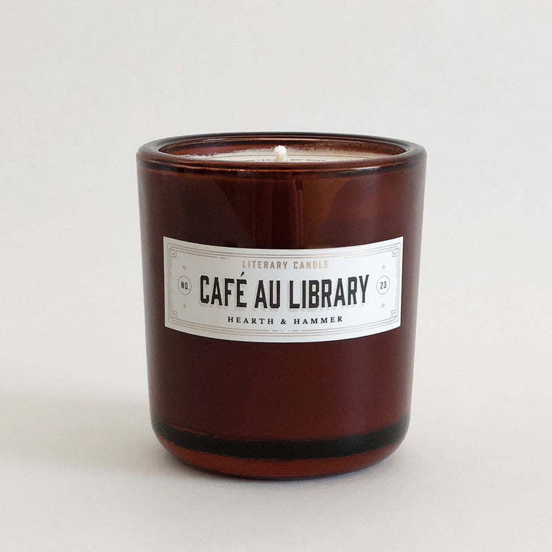 Café Au Library Literary Soy Candle