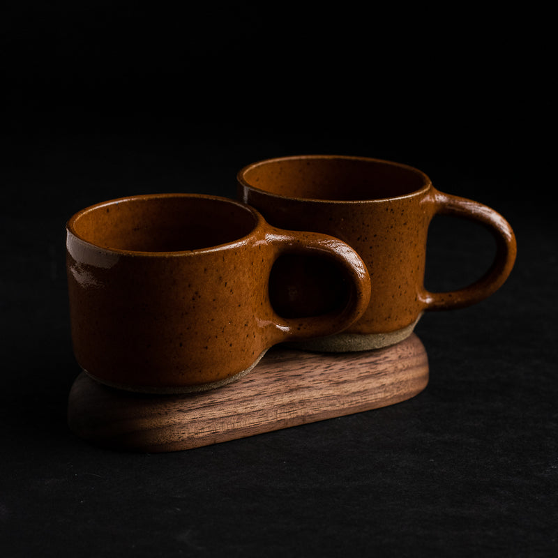 Burnt Orange Ceramic Camp Mug