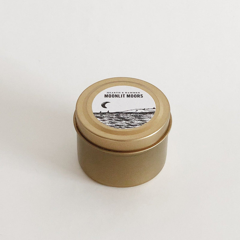 Moonlit Moors Literary Travel Soy Candle Tin