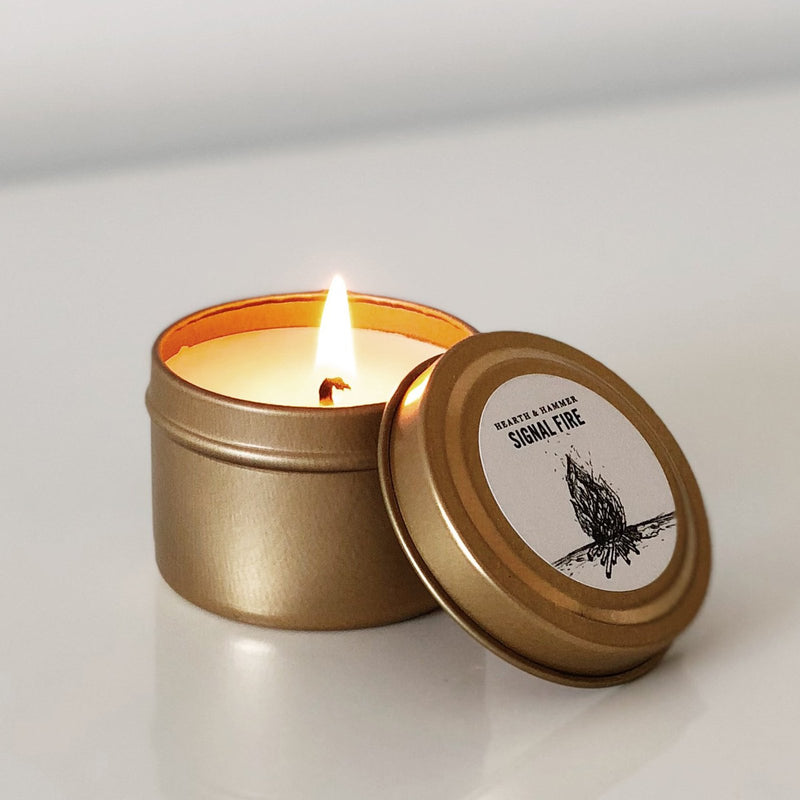 Signal Fire Literary Travel Soy Candle Tin