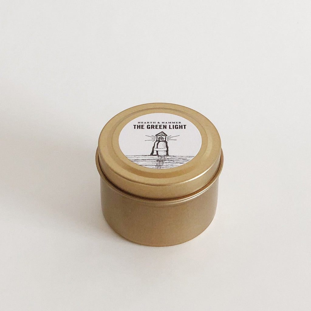 The Green Light Literary Travel Soy Candle Tin