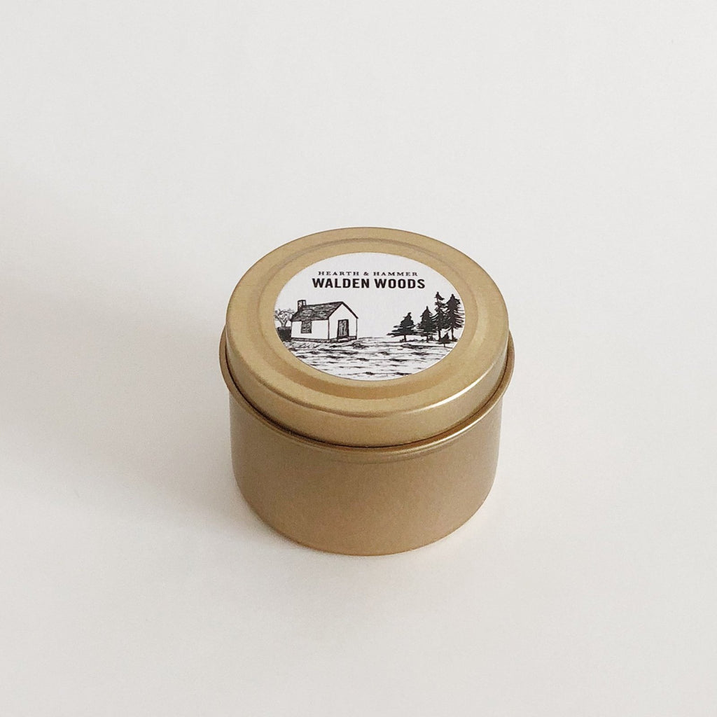 Walden Woods Literary Travel Soy Candle Tin