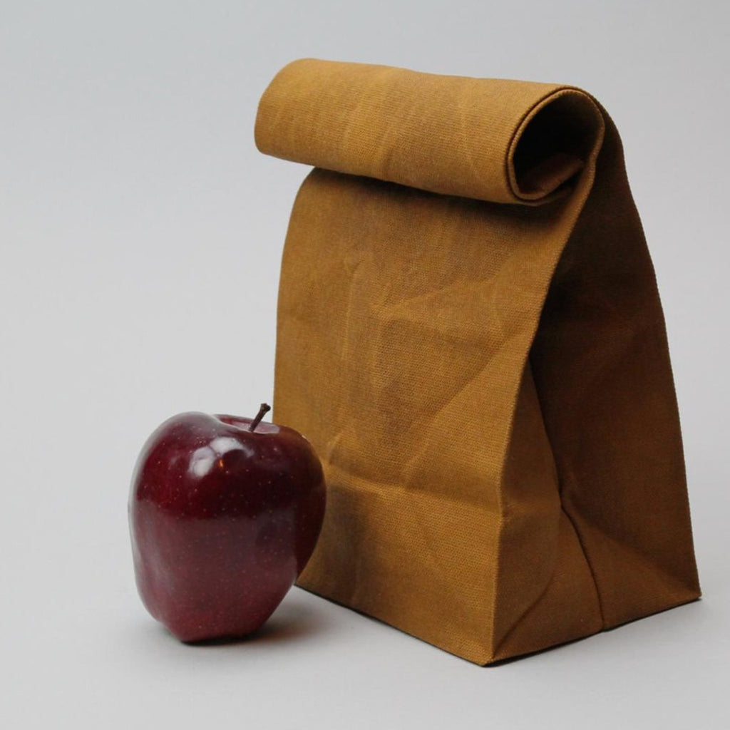 Waxed Brown Bag — Caramel