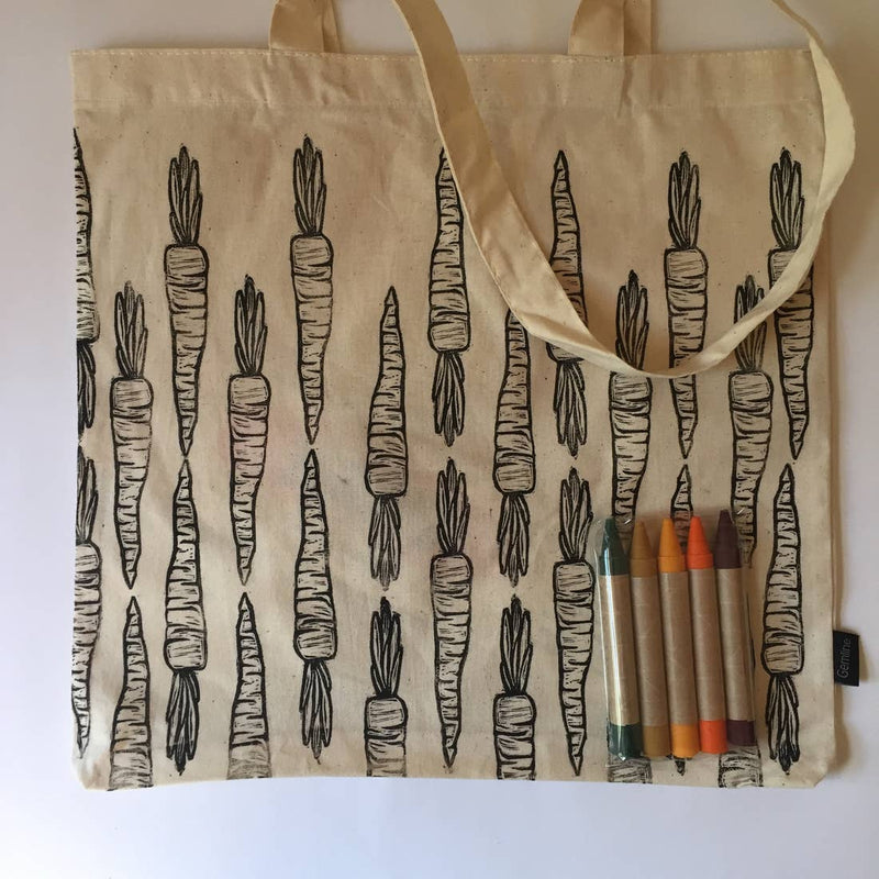 Carrot — Color Your Own Market Tote Kit