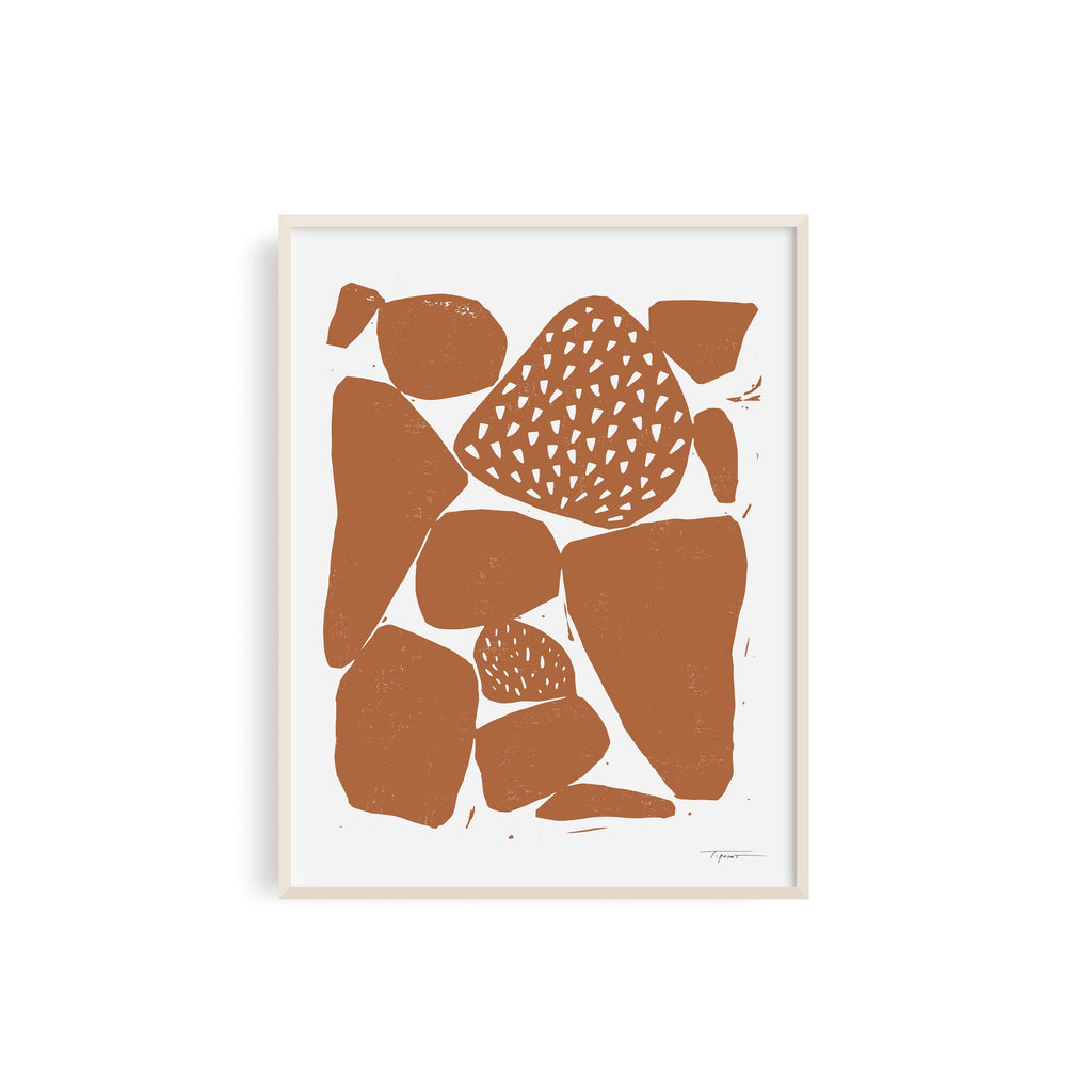 Organic Shapes Art Print