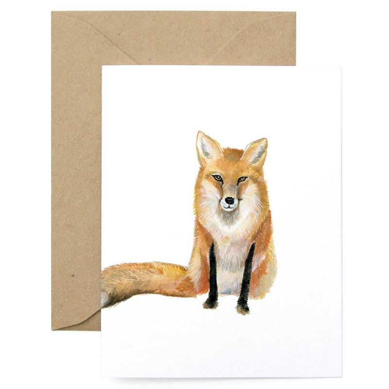 Fox Thanks Card