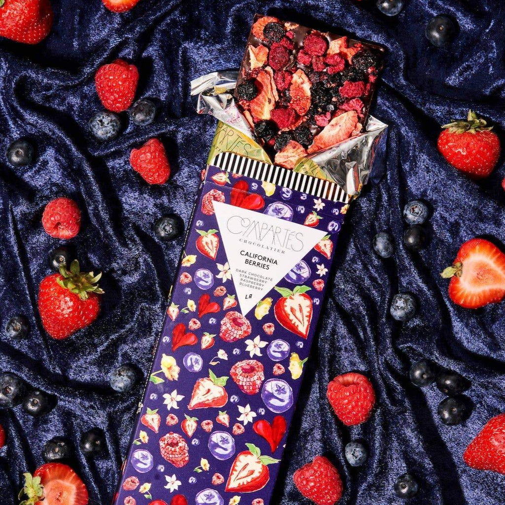 California Berries Dark Chocolate Strawberry Raspberry Blueberry