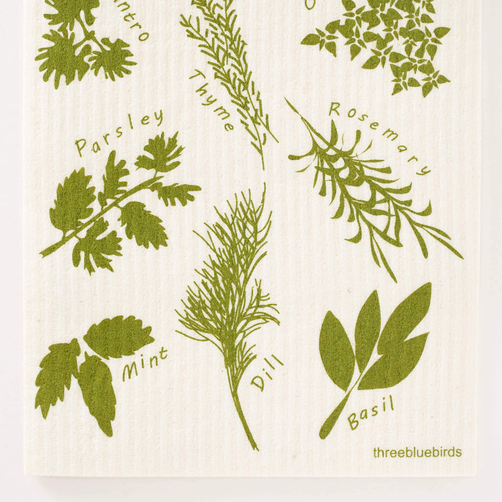 Herbs Swedish Dishcloth
