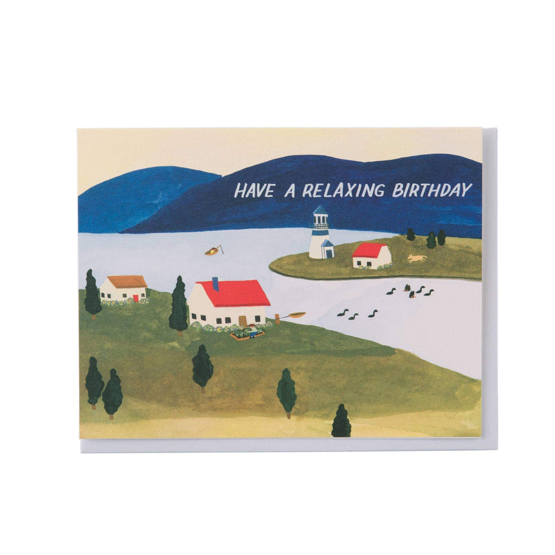 Seaside Town Birthday Card