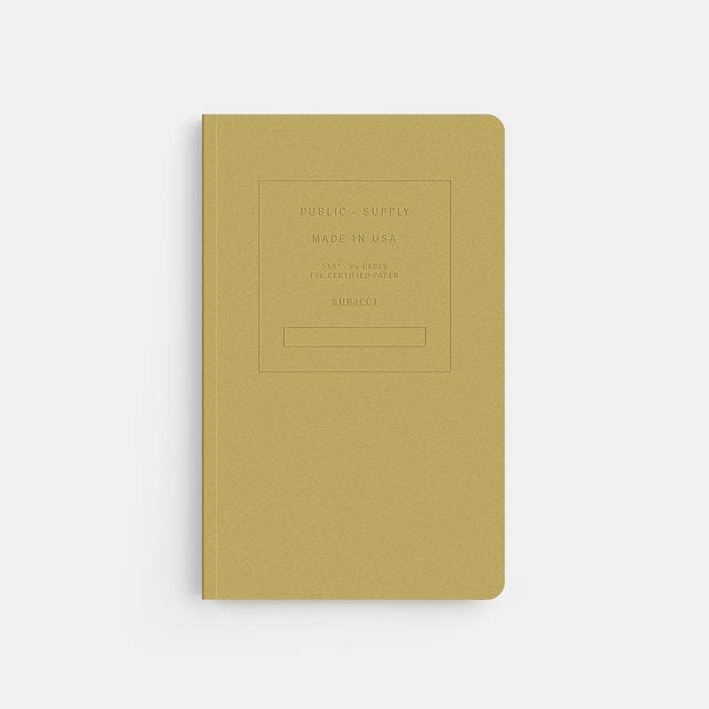 "Fuse 5x8"" Embossed Soft Cover Notebook - Ruled Paper"