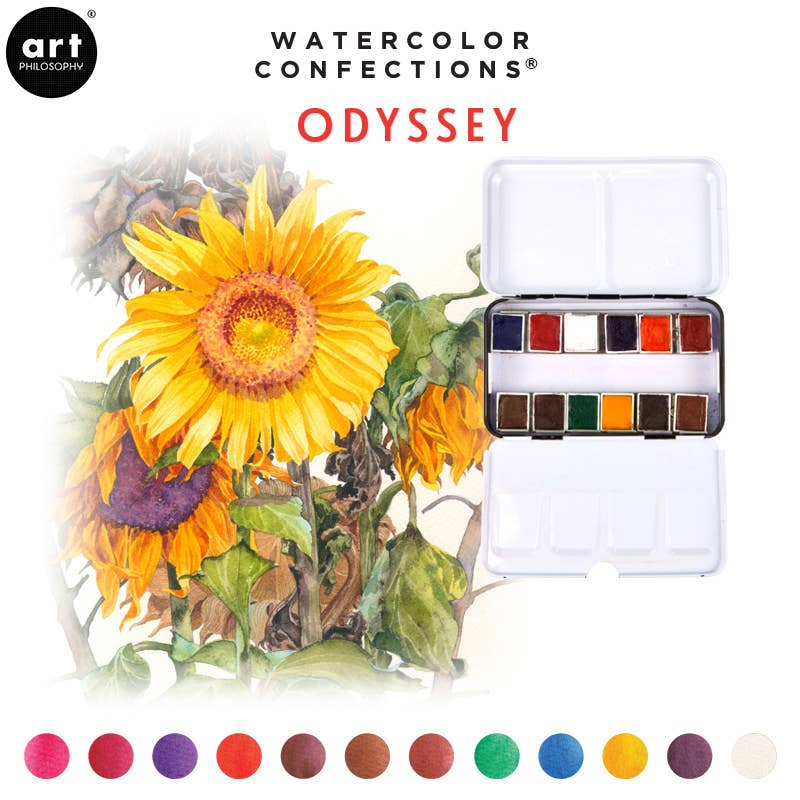 Watercolor Confections Odyssey