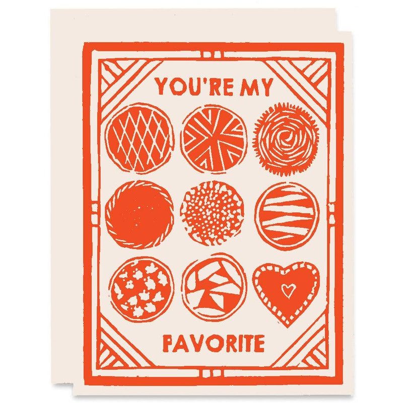 You're My Favorite Romance Card