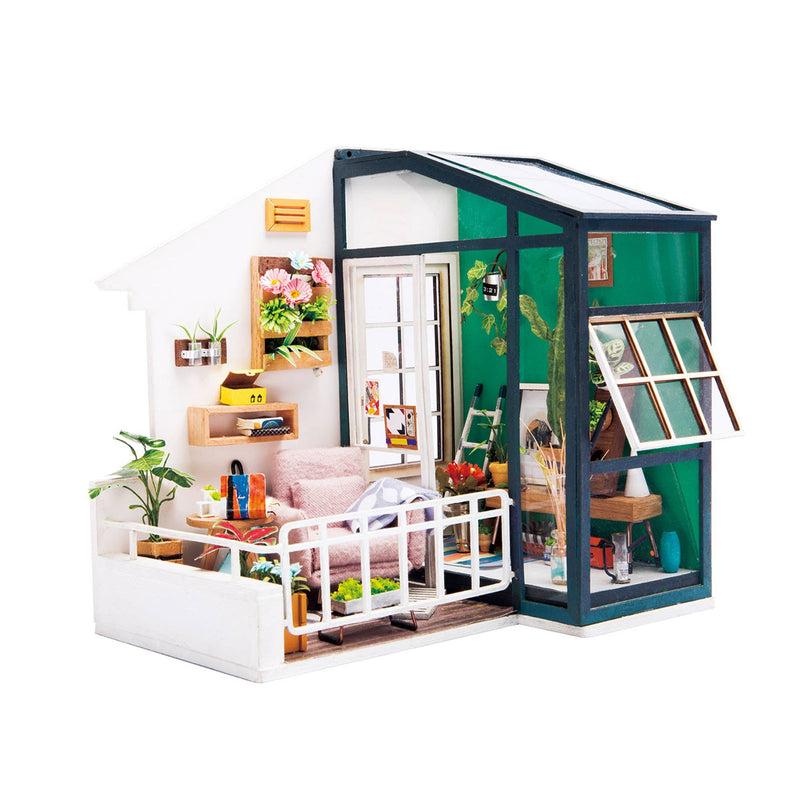 DGM05, Balcony DIY Miniature Dollhouse Kit