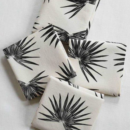 Organic Fan Palm Cloth Napkins, Set of Four