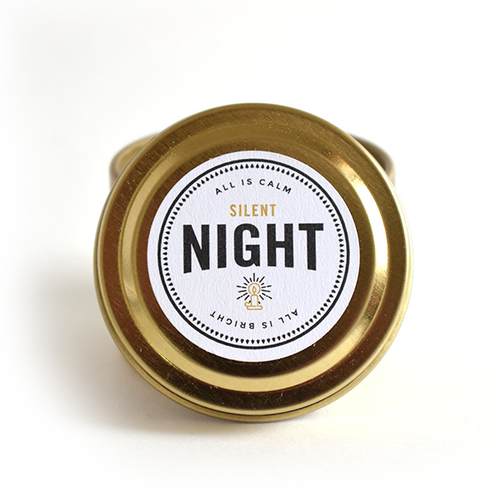 Silent Night Literary Travel Soy Candle Tin